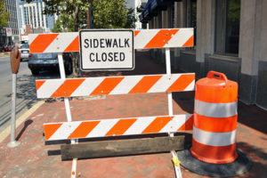 sidewalk closures